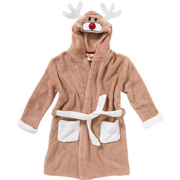 Boys Reindeer Dressing Gown (2-6yrs 6 pack) - (6-11yrs 6 pack)